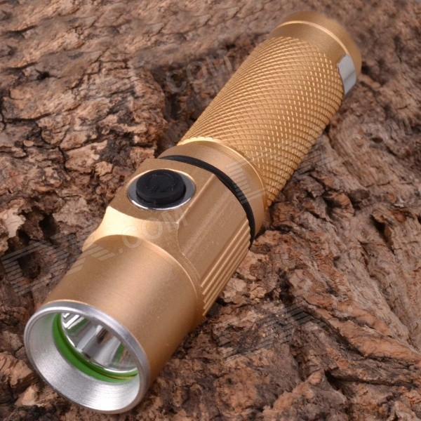 SingFire SF-361B 250lm 3-Mode White Mini Flashlight w/ CREE XP-E R2 - Champagne (1 x 18650)