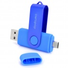 Ourspop SJ-20 Rotary USB 2.0 disco flash con micro USB - Azul (64 GB)