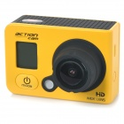 "RD990C Water Resistant 1.5"" HD 1080P CMOS 3.0MP Wide-Angle Outdoor Sports Camera Camcorder - Yellow"