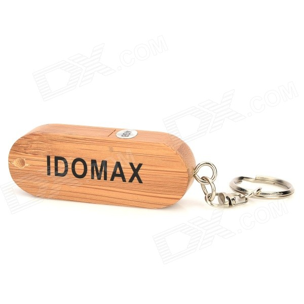 IDOMAX M027 Full Capacity Classics Wood + Bamboo USB 2.0 Flash Drive - Yellow (4GB) leopard style usb 2 0 flash drive disk white yellow 4gb