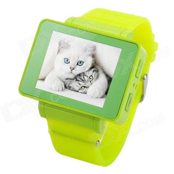 i5s Multi-Function 1.8 TFT Screen GSM Smart Watch Phone w/ FM, Bluetooth, TF - Green multi function green