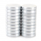SZGAOY N38 Round Shaped NdFeB Magnet - Silver (20 PCS)