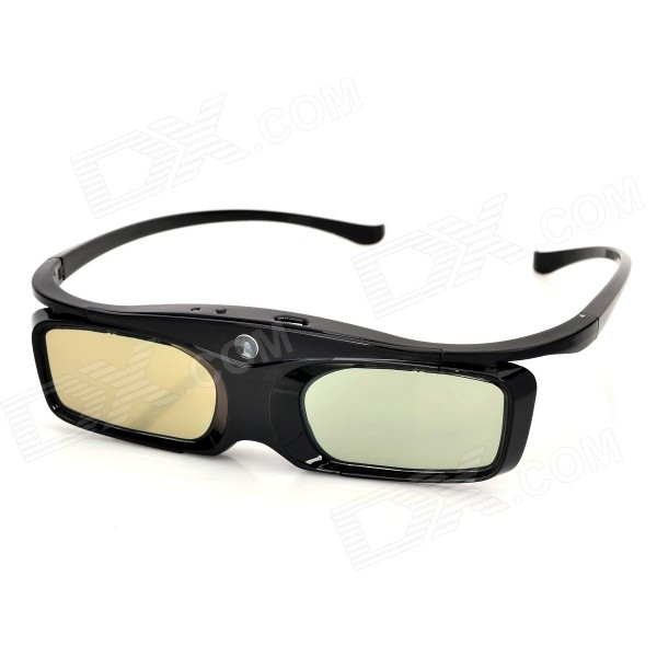 SG16-DLP 3D Active Shutter Glasses for DLP-link Projector - Black sg08 dlp 3d shutter glasses for dlp link projector black