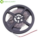 SENCART 30W 1200lm 3500K 300-SMD 3528 LED Warm White Light Strip - White + Transparent (5M / DC 12V)