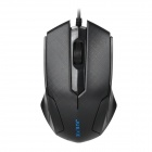 JUEXIE JM-601 USB 2.0 Wired 1000DPI LED Gaming Mouse w/ Built-in Weight - Black