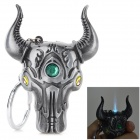 Creative Bull Head Shaped Zinc Alloy Butane Lighter - Grey
