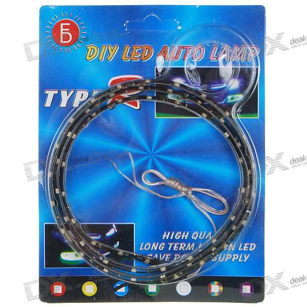 Waterproof 3W 60 LED 3W Flexible Light Strip - Blue Light (1-Meter / DC 12V)