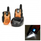 "BOBELL T600 Mini 0.7 ""LCD 22-CH Wiederaufladbare Walkie Talkie Set - Orange + Schwarz"