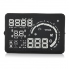 "S5 5.5"" Screen Car Head UP Display w/ Non-slip Mat / Reflecting Film / OBD Data Cable - Black"