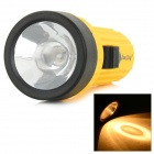 Plastic Lens Krypton Bulb 1-Mode Yellow Light Flashlight - Orange + Black (4 x AA)