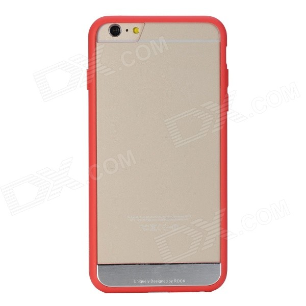 ROCK Protective TPU + PC Back Case for IPHONE 6 PLUS 5.5 - Red rock rk ip6p royce series protective pc tpu back case for iphone 6 plus 5 5 red black