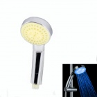 08-A16 Handheld Water Flow Power Generation LED Blue Light Shower Head - Silver