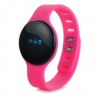 "SW102 0.68"" Bluetooth V4.0 Smart Watch Wristband Bracelet w/ Sports / Sleep Tracking - Deep Pink"
