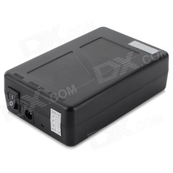 Universal High Capacity 12V EU Plug 1500~1800mAh Li-ion Battery Power Bank - Black (110~240V)