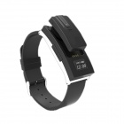 I-Wacth Bluetooth V3.0 Wireless Smart Watch w/ Bluetooth Earphone for Cellphone - Black + Silver