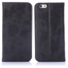 "ENKAY Protective PU Leather Case w/ Stand / Card Slot for IPHONE 6 4.7"" - Black"