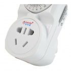 US Plugs 10A 2200W 220V Mechanical Switch Timer w/ Socket - White