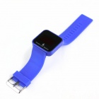 "1.8"" Display LED Red Backlight Touch Screen Digital Wrist Watch - Blue + Black (1 x CR2032)"