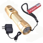 SingFire SF-361C 250lm 3-Mode White Flashlight w/ CREE XP-E R2, AC Charger - Champagne (1 x 18650)