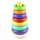 Rainbow Puzzle Shaking Ring Bell Toy for Babies - White + Yellow