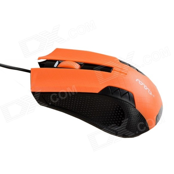 MaShang X4 Professional USB 2.0 / 1.1 Wired 1200DPI LED Gaming Mouse - Black + Orange