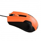 MaShang X4 Professional USB 2.0 / 1.1 Kabel 1200DPI LED Gaming Mouse - Schwarz + Orange