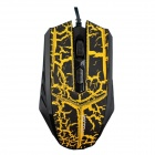 MaShang X7 Professional USB 2.0 Wired 1600DPI LED Gaming Mouse - Black + Yellow