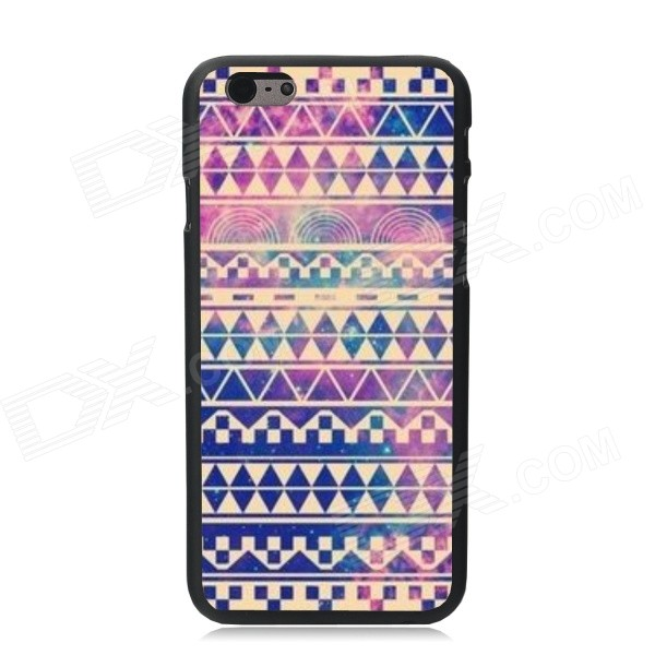 Elonbo Vintage Stripe Pattern Plastic Back Case for IPHONE 6 PLUS - Purple + Yellow + Multi-Color protective abs matte varnishing back case for htc one mini m4 blue