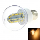 HONSCO E27 5W 400lm 3000K 84-SMD 2835 LED Warm White Light Bulb - White + Silver (AC 85~265V)