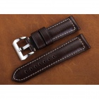 CHIMAERA OP19-BK05 24mm Leather Watch Band Strap w/ Stainless Steel Buckle for PANERAI - Brown