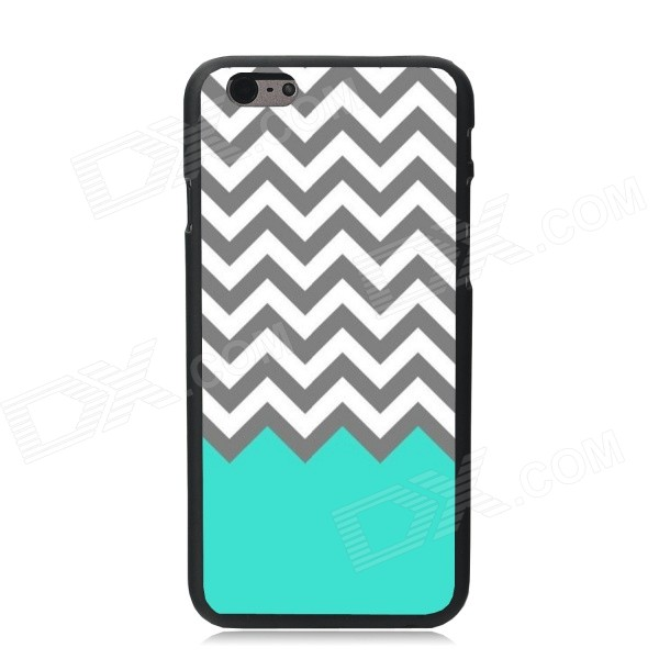 Elonbo Wave Pattern Plastic Hard Back Case for IPHONE 6 PLUS - White + Grey + Multi-Color elonbo the lovely deer mr plastic hard back case for amazon fire phone grey brown multi color
