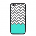 Elonbo Wave Pattern Plastic Hard Back Case for IPHONE 6 PLUS - White + Grey + Multi-Color