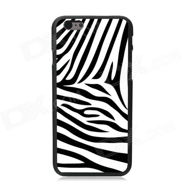 Elonbo Fashion Zebra Pattern Protective Plastic Back Case for IPHONE 6 PLUS - White + Black fashion letters and zebra pattern removeable wall stickers for bedroom decor