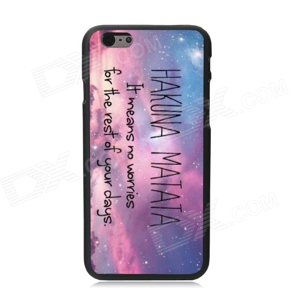 Elonbo Mysterious Sky Pattern Plastic Hard Back Case for IPHONE 6 PLUS - Purple + Blue + Multi-Color кейс для назначение huawei p9 huawei p9 lite huawei p8 huawei huawei p9 plus huawei p7 huawei p8 lite p10 lite p10 кошелек со стендом с