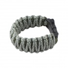 Outdoor Survival Emergency Bracelet Style Nylon Parachute Cord Rope w/ Whistle - Army Green + Gray