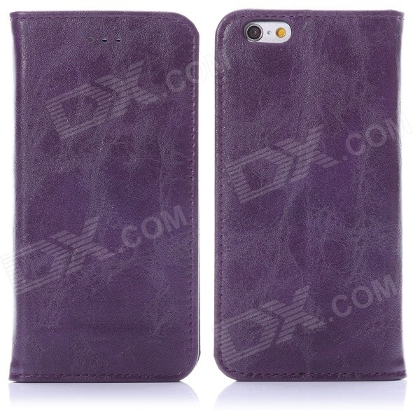 ENKAY Protective PU Leather Case w/ Stand for IPHONE 6 4.7 - Deep Purple deep purple deep purple stormbringer 35th anniversary edition cd dvd