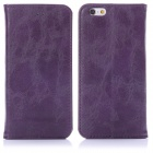 "ENKAY Protective PU Leather Case w/ Stand for IPHONE 6 4.7"" - Deep Purple"