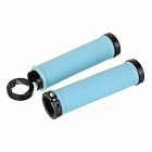 Aluminum Alloy + Rubber Bike Bicycle Handlebar Grip Covers - Blue (2pcs)