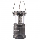 NEJE ZJ0015-1 1W 60lm White Light 30-LED Outdoor Camping Stretch Lantern Lamp - Black (3 x AAA)