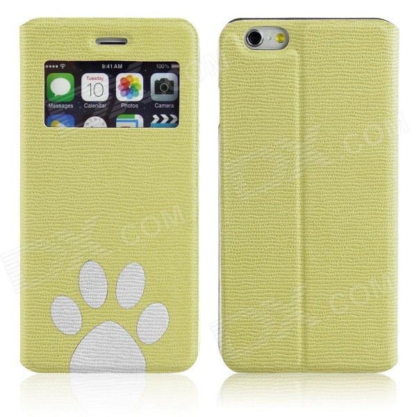 ENKAY Footprint Pattern Protective PU Leather Case w/ Stand for IPHONE 6 4.7