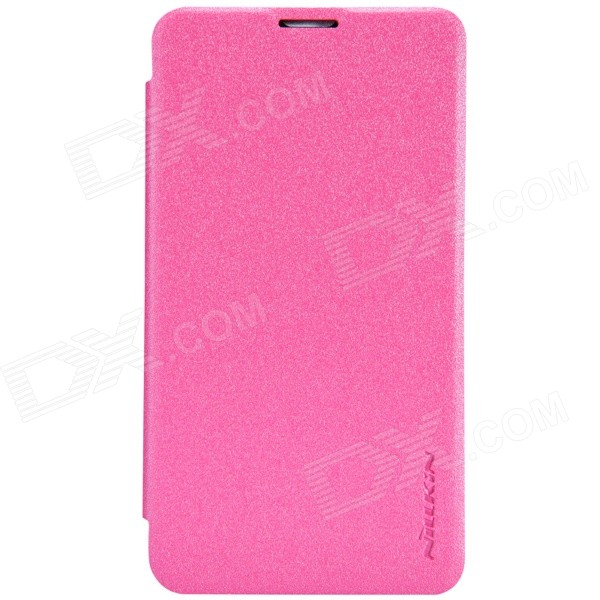 NILLKIN Protective PU Leather + PC Case Cover for Nokia Lumia 530 - Pink nillkin protective pu leather pc flip open case for nokia lumia 535 white