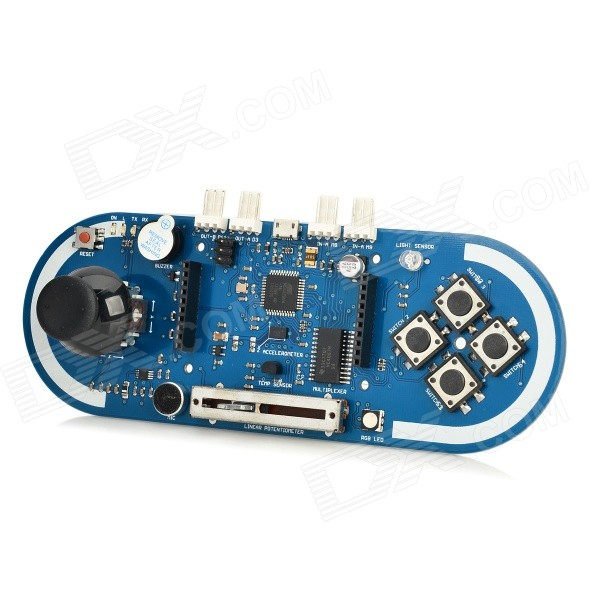 где купить Esplora Joystick + Sensor + LED Module Kit Board for Arduino - Deep Blue дешево