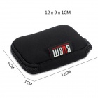 BUBM MI02 Waterproof USB Flash Disk / Battery / MP3 Storage Bag Pouch - Black