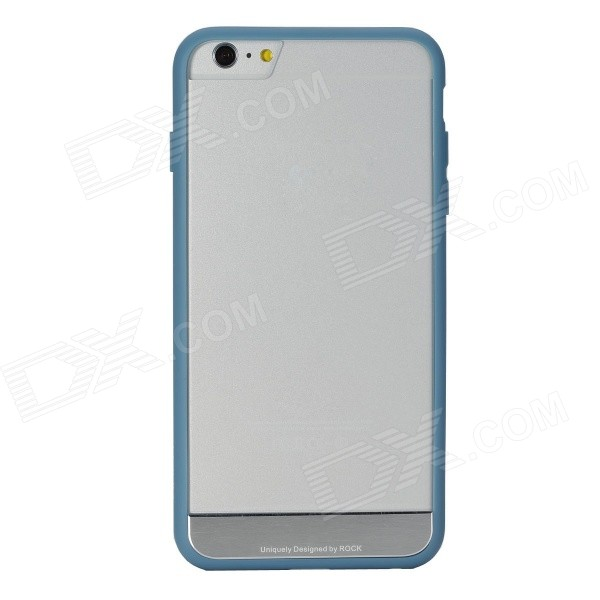 ROCK Protective PC + TPU Back Shell w/ Soft Edging Case for IPHONE 6 PLUS - Grayish Blue аксессуар чехол rock jello protective shell for iphone 6 white 69439