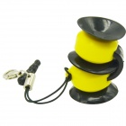 Suction Cup Silicone Stand / Holder w/ Dustproof Plug for IPHONE / Samsung + More - Yellow + Black