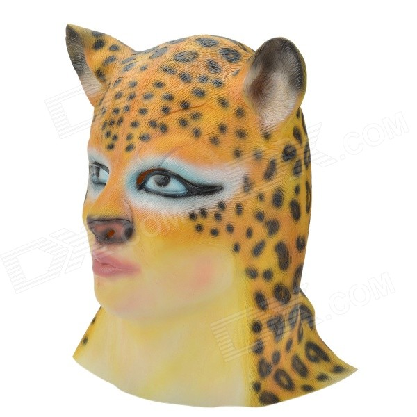 SYVIO Leopard Head Style Mask for Cosplay / Party - Yellow + Black