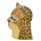 SYVIO Women's Beauty Face Leopard Head Style Rubber Mask for Cosplay / Party - Yellow + Black