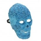 SYVIO Flower Skull Style Mask for Halloween Costume Party - Blue