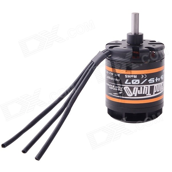 EMAX GT 5345/07 Outrunner Brushless Motor for R/C Helicopter - Black (12cm) a2212 6t 2200kv outrunner motor brushless for rc aircraft quadcopter helicopter hc6u drop shipping