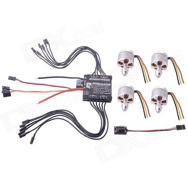Hobbywing Skywalker 20A-Quattro 4-in-1-Speed Control + LD-POWER MT2212 920KV Brushless Motor CW